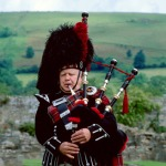 Traditional bagpiper