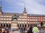 La Plaza Mayor in Madrid, Spain